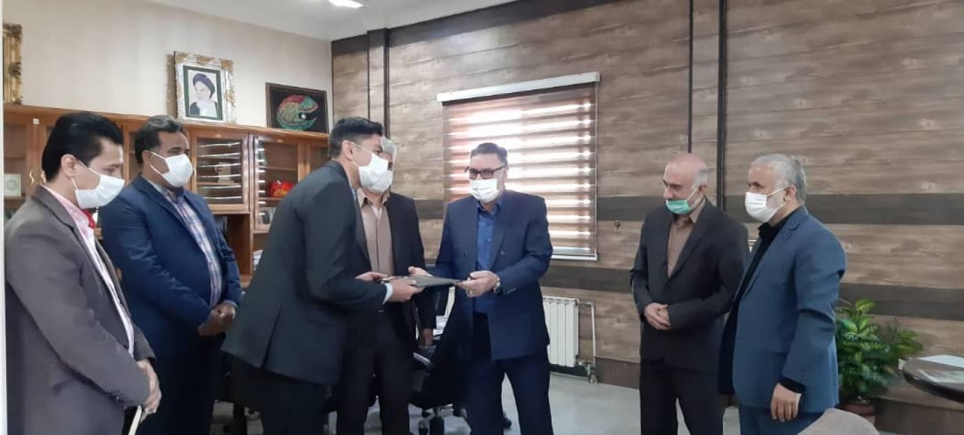 مراسم تودیع و معارفه رئیس اداره صنعت، معدن و تجارت شهرستان رزن