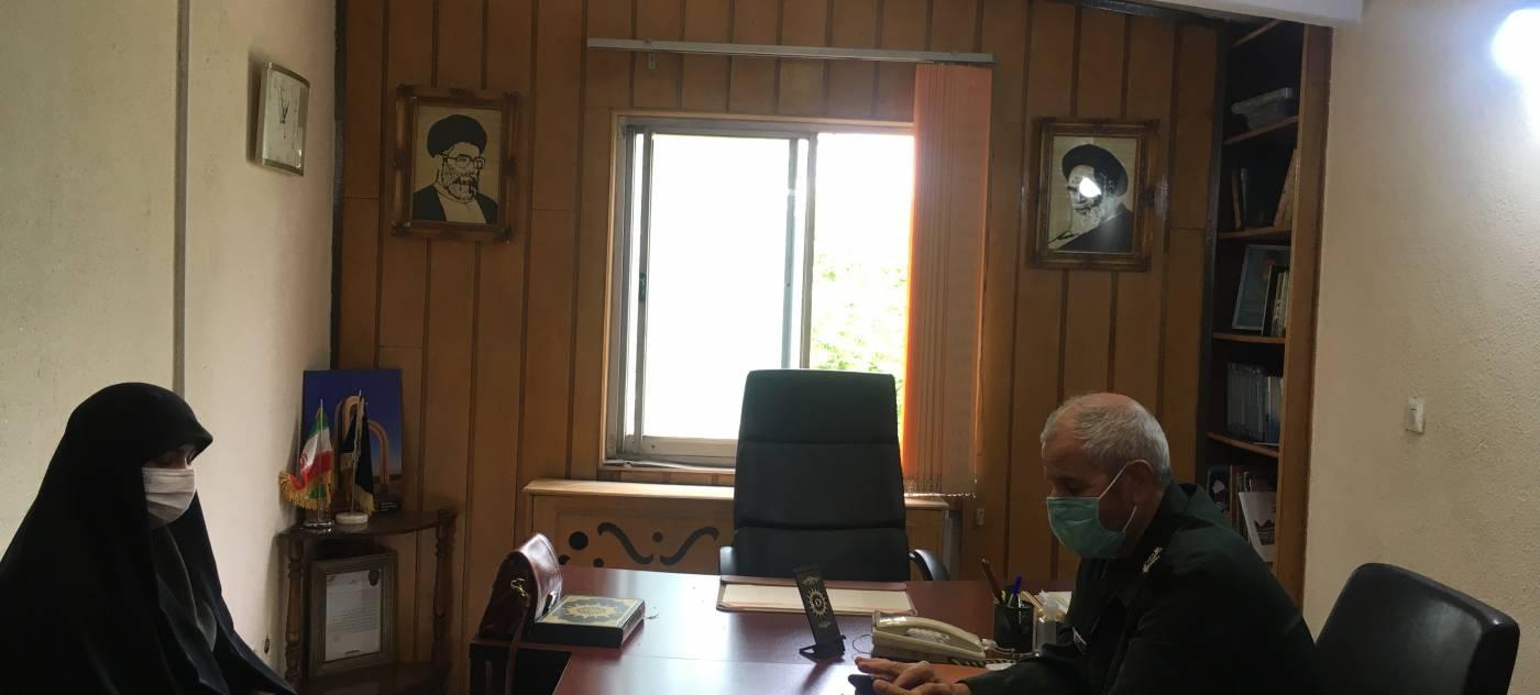دیدار مدیرکل امور بانوان و خانواده استانداری همدان با سردار ظفری مدیرکل بنیاد حفظ آثار و نشر ارزشهای دفاع مقدس