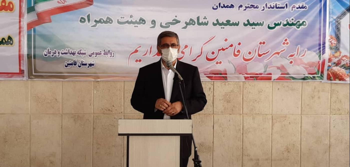 استاندار همدان: عملیات ساخت ۱۰۲واحد تولیدی شهرستان فامنین درحال اجراست