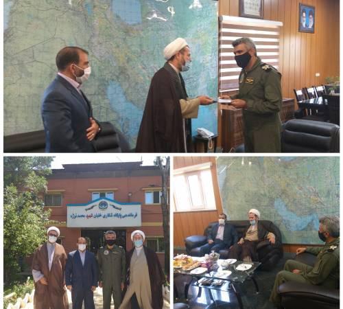 دیدار امام جمعه ،فرماندارورئیس شورای تامین شهرستان کبودراهنگ بافرمانده جدید پایگاه هوایی شهید نوژه