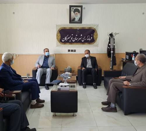 دیدار مدیرکل ثبت احوال استان همدان با فرماندار شهرستان تویسرکان